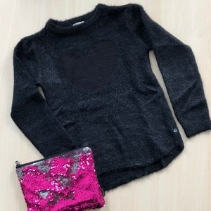 appaman Girls Black Heart Sweater Size 12